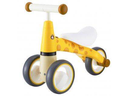 EcoToys Dětské odrážedlo Žirafa MINI - žluté, LB1603