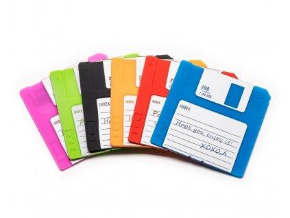 eng pl Floppy disk coaster 6 pcs set 1414 9