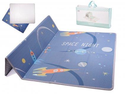 KIK KX6675_1 Pěnová podložka na hraní Space Night 174x45x1cm