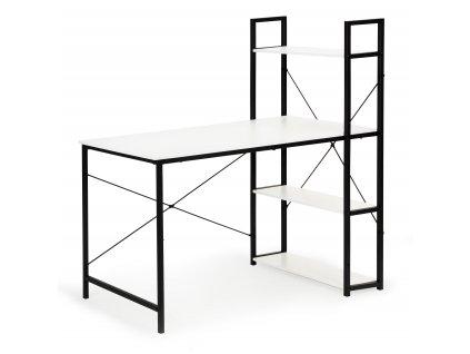 ModernHome Počítačový, kancelářský stůl s regálem - bílý, PJJCT002-301