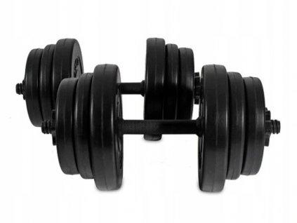 Set jednoručních nakládacích činek 2 x 10 kg, H2X10