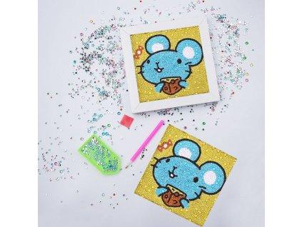 Diamantové malování pro děti - myška