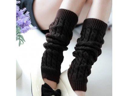 Hřejivé návleky na nohy - černé