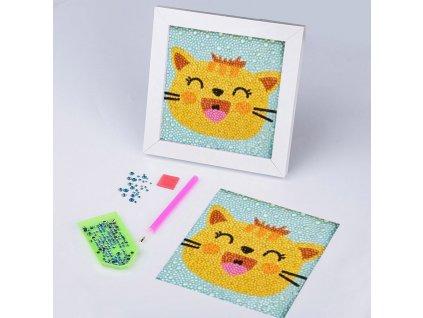 Diamantové malování pro děti - kočička