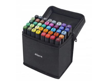 Markery Kolorowe Zakreslacze Pisaki Dwustronne x40