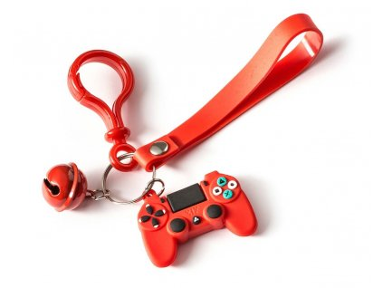 eng pl Gamer keychain with a bell RED 2855 2