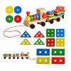 Dřevěný vláček s tvary pro děti, 8243