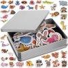 Magnetky na lednici zvířátka mix 42 ks, 11552