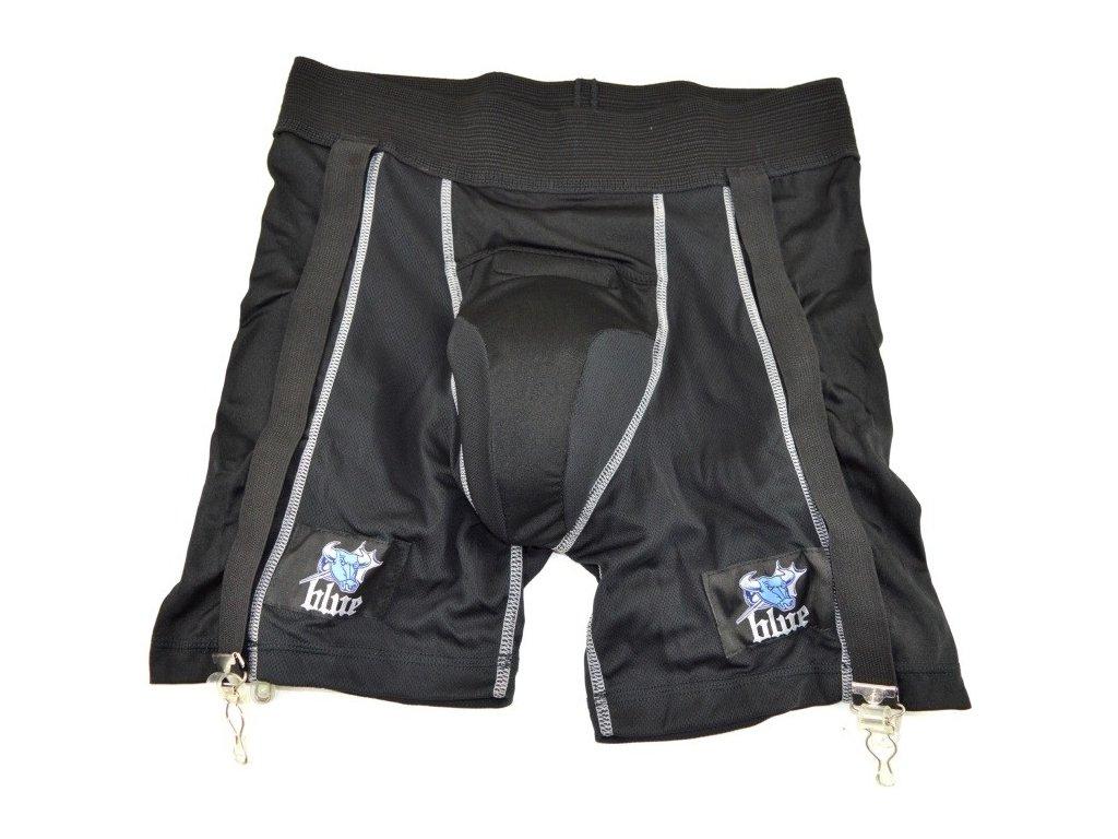 suspenzor blue sports compression jock shorts sr