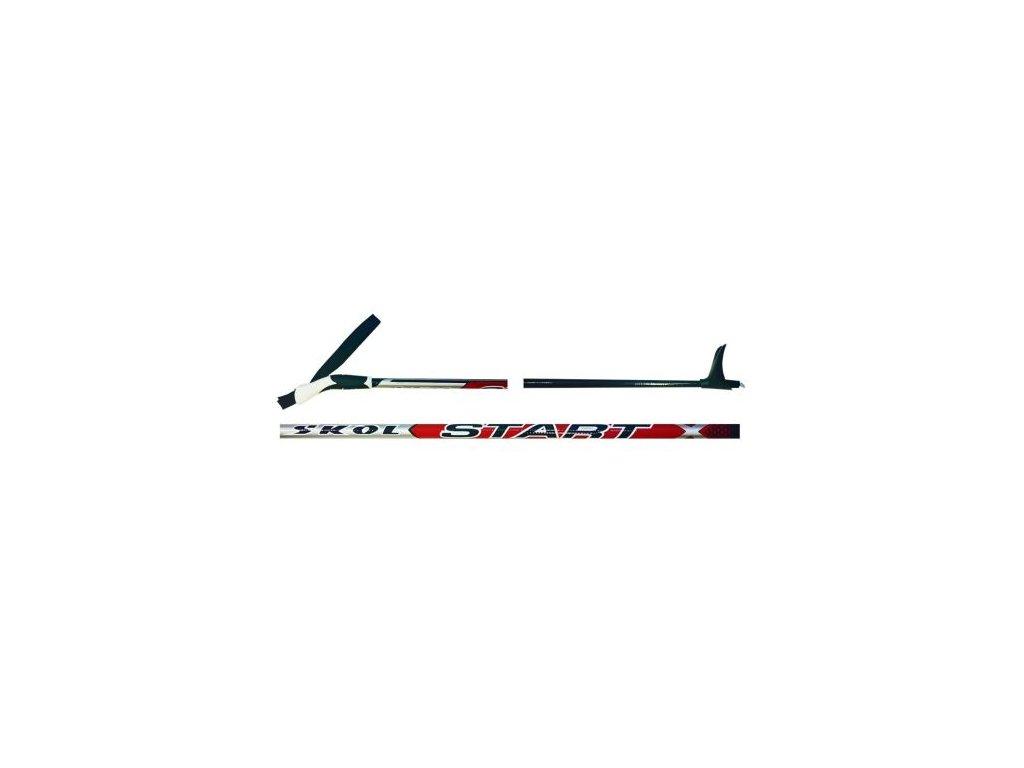 běžecké hole SKOL Start RED (80-120 cm) 80 cm (Délka holí 80 cm)