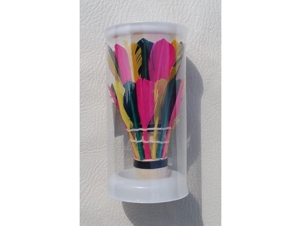 badmintonove micky barevne perove unison un 1011 2 ks v doze