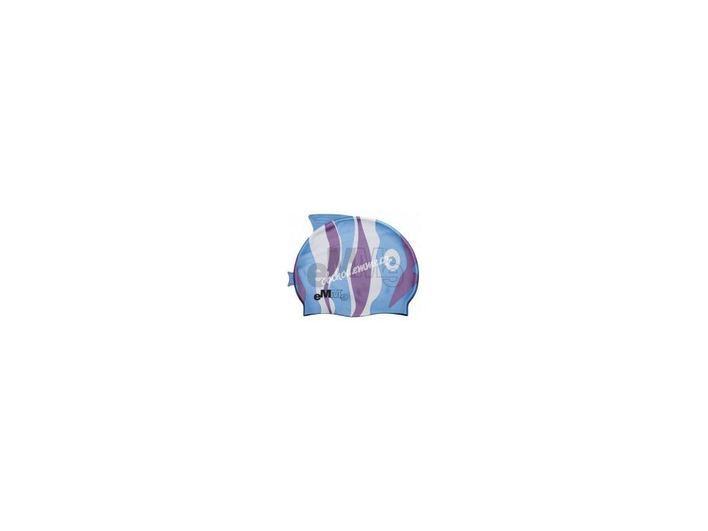 Dětská plavecká čepička Emme modro-fialová ryba