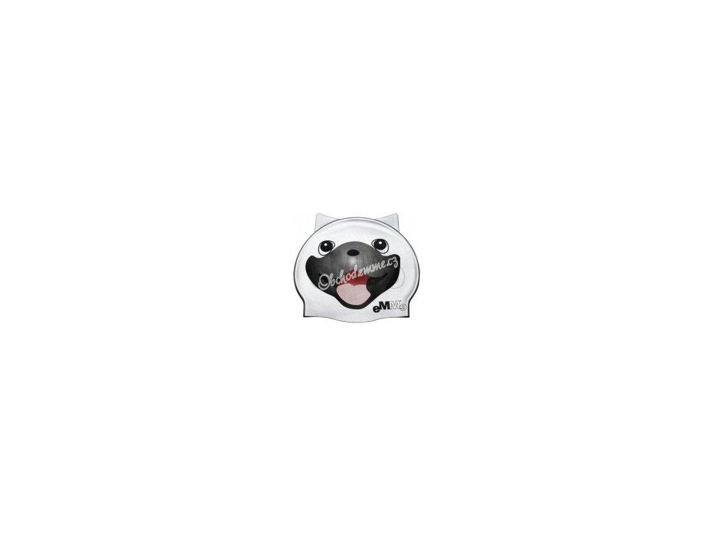 Dětská plavecká čepička Emme stříbrný pes