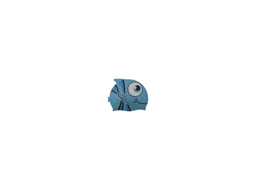 Dětská plavecká čepice Wave modrá rybka