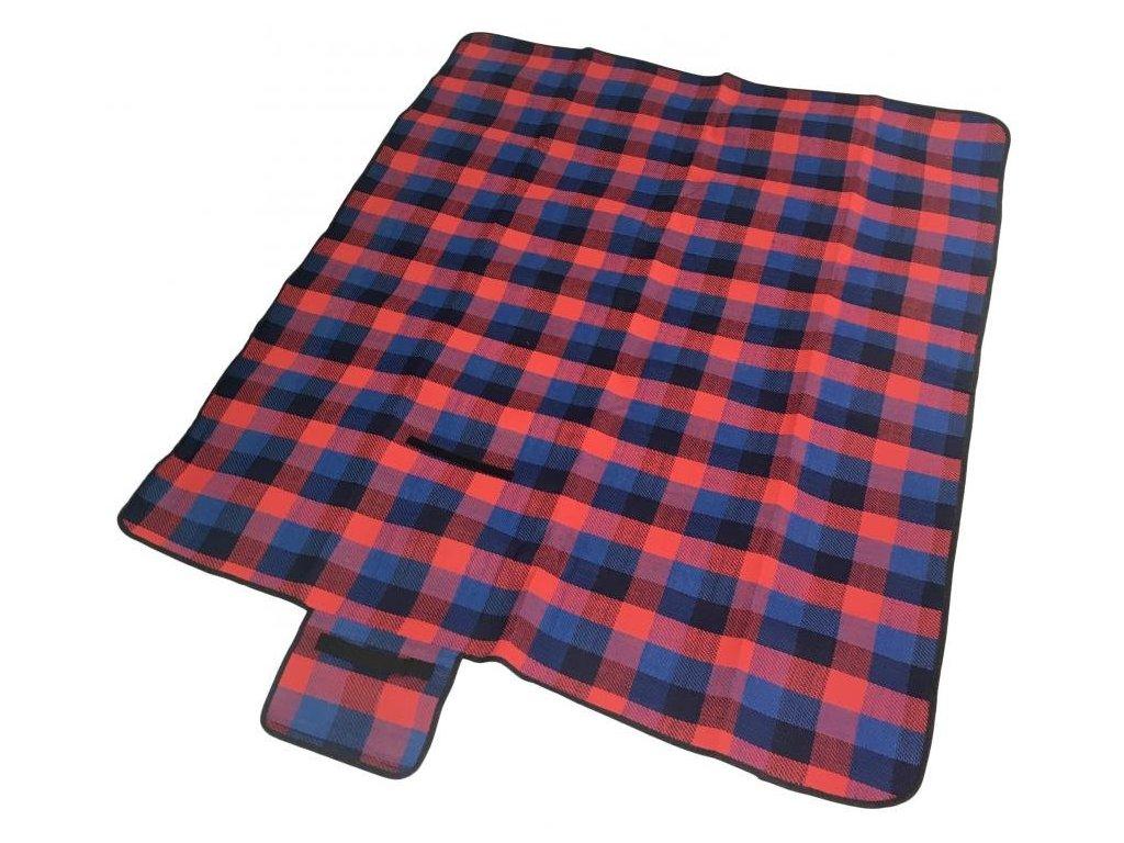 piknikova deka sedco acrylic alu cervena