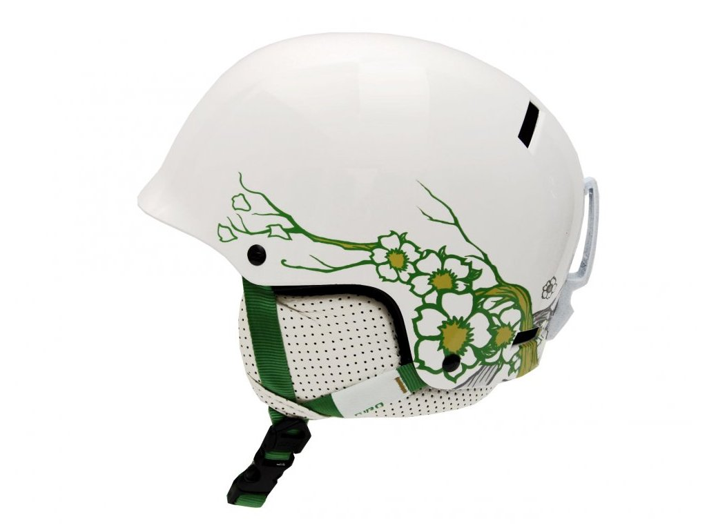 lyzarska helma giro revolver white blossom
