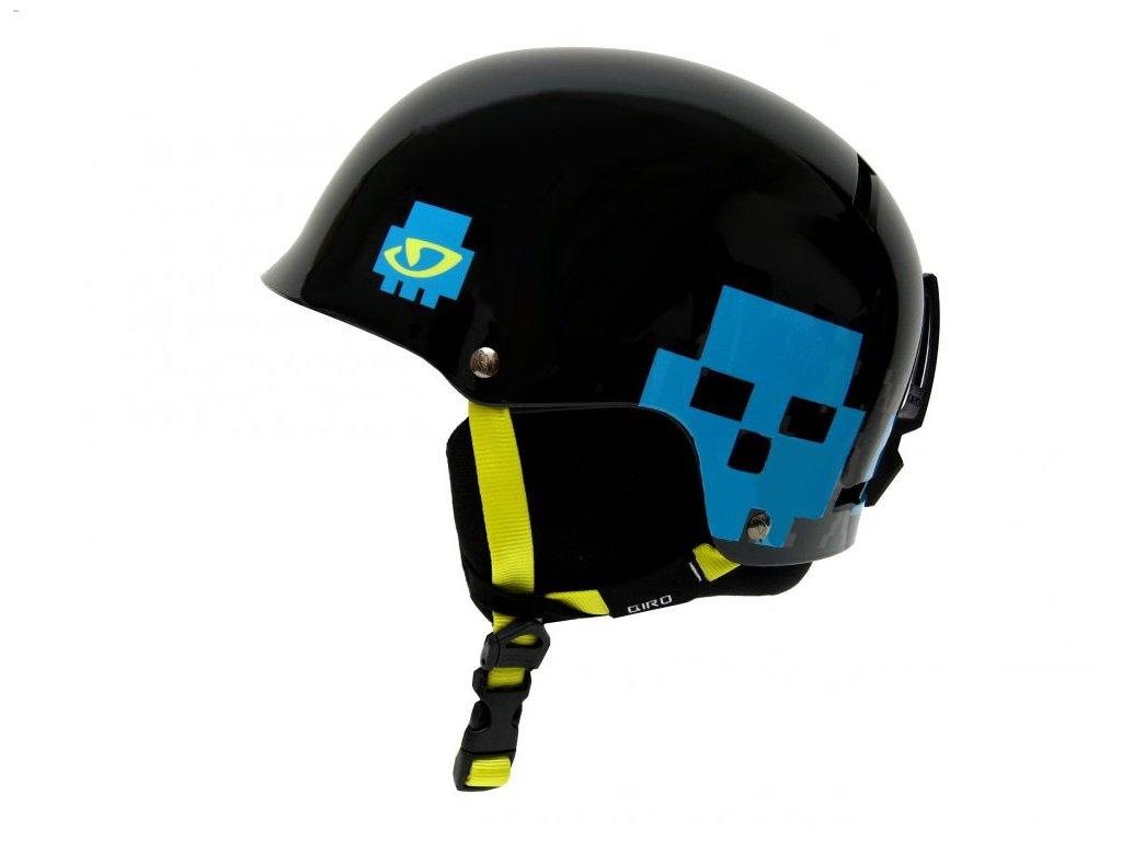 Lyžařská helma Giro Tag black skull poncho - S