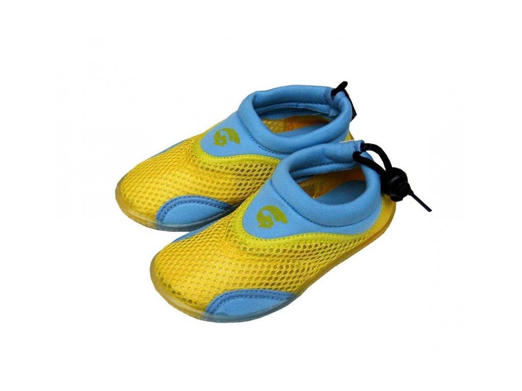 Dětské neoprenové boty do vody Alba žlutomodré