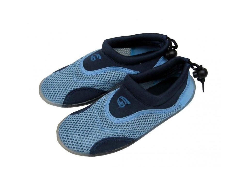 Neoprenové boty do vody Alba Junior modré
