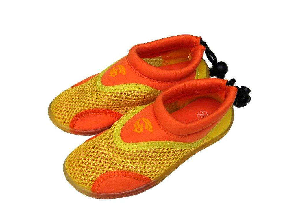 Neoprenové boty do vody Alba Junior žlutooranžové