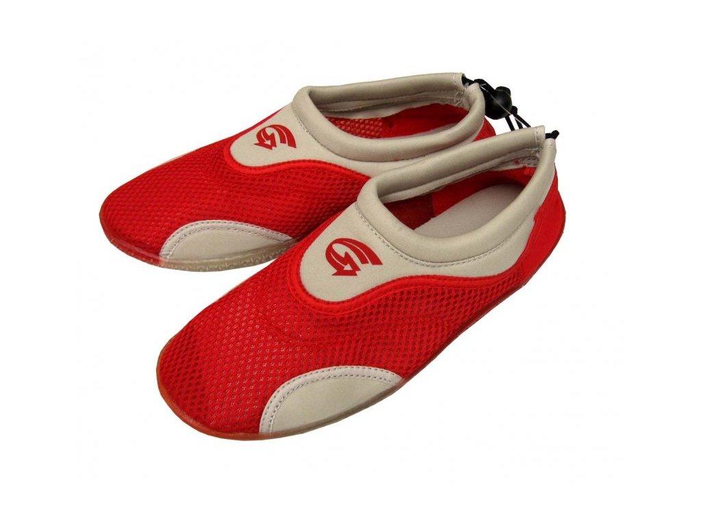 Dámské neoprenové boty do vody Alba šedočervené vel. 35
