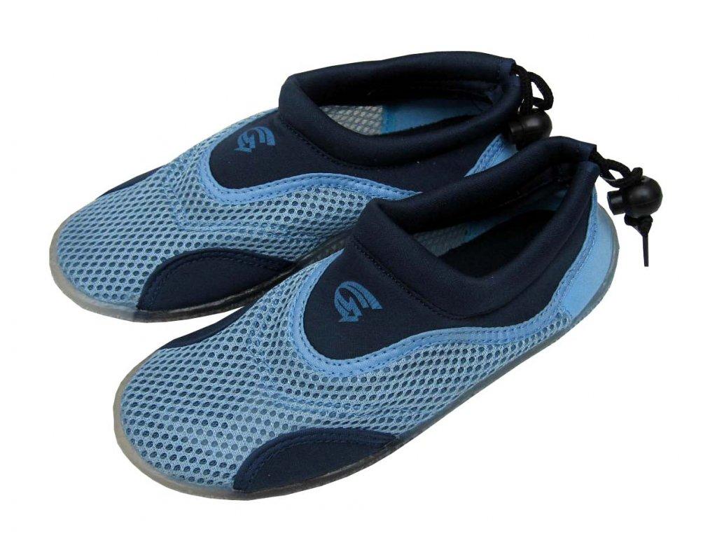 Pánské neoprenové boty do vody Alba světle modré