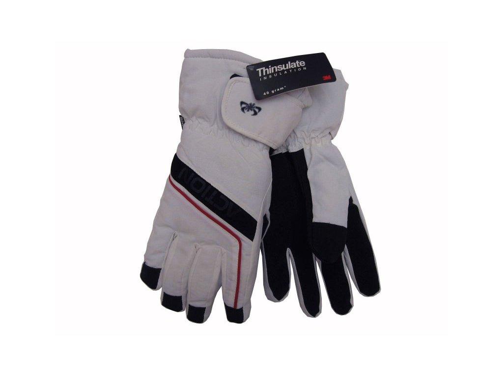 Dámské rukavice Action, bílé