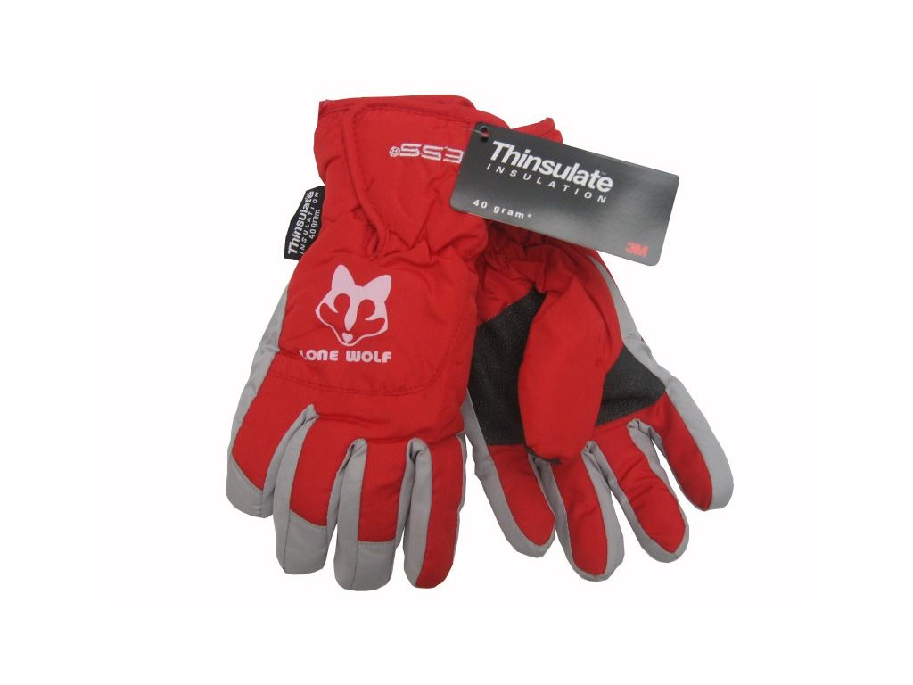 Dětské zimní rukavice Lone Wolf, červené