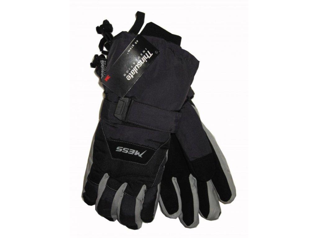 Pánské lyžařské rukavice Mess, tmavě šedé