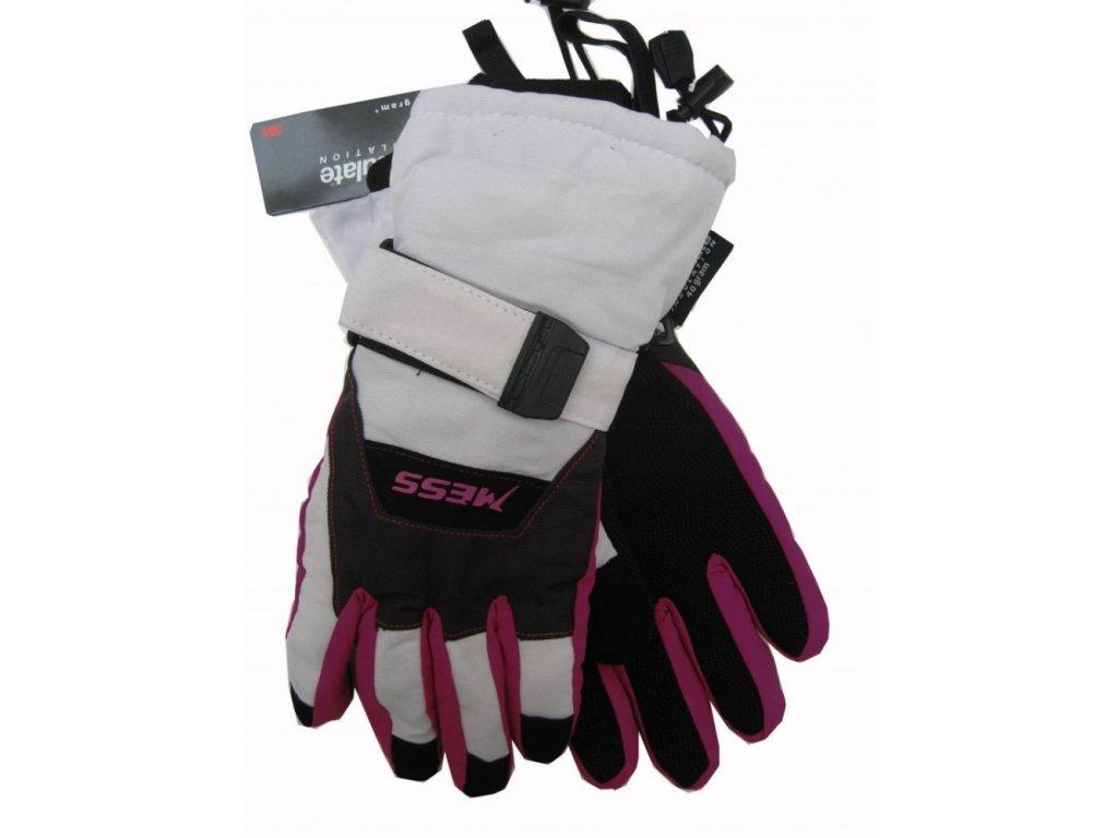 Lyžařské rukavice Mess junior, bílé
