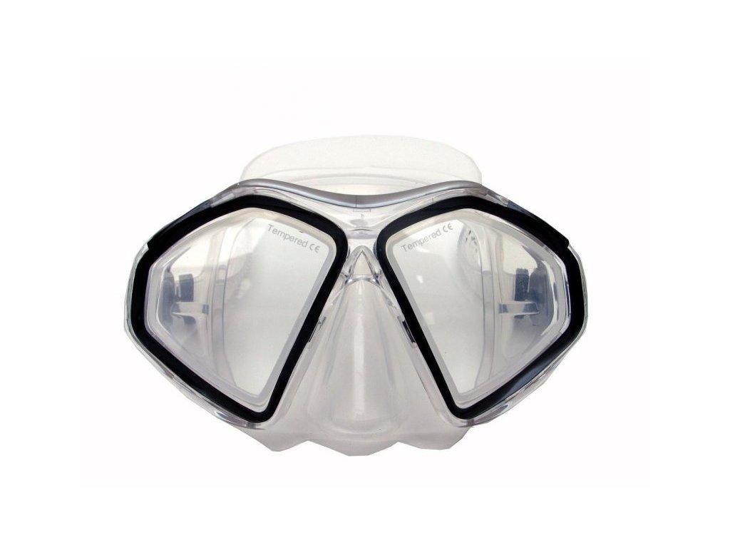 Profi potápěčské brýle Tigullio Predator, silikon senior