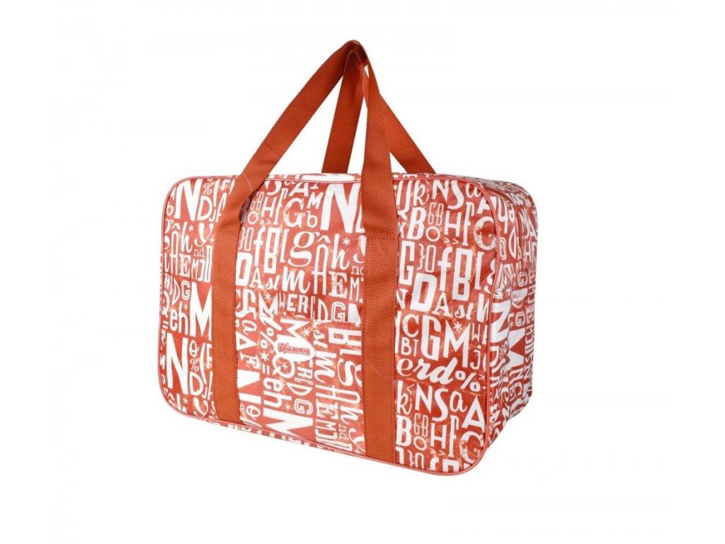 Plážová termotaška - chladící taška Kasaviva 14 litrů červená