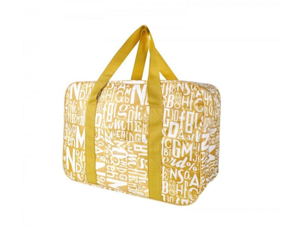 Plážová termotaška - chladící taška Kasaviva 14 litrů žlutá
