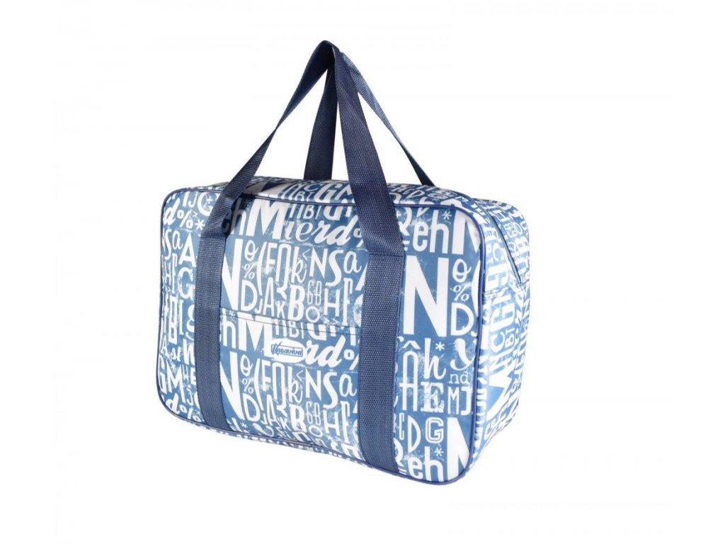 Plážová termotaška - chladící taška Kasaviva 23 litrů modrá