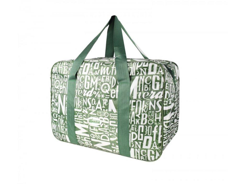Plážová termotaška - chladící taška Kasaviva 23 litrů zelená