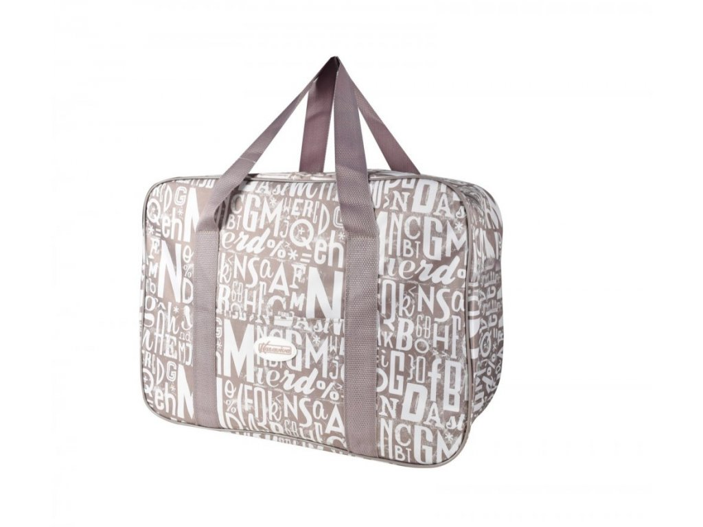 Plážová termotaška - chladící taška Kasaviva 23 litrů hnědá
