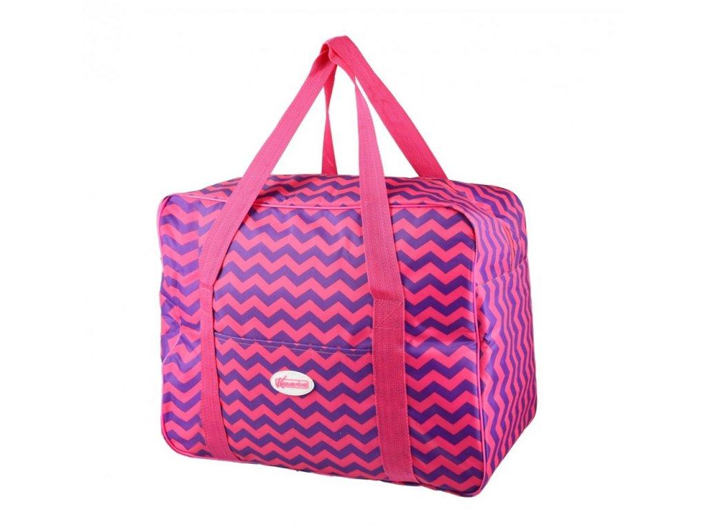 Plážová termotaška - chladící taška Kasaviva 7 litrů růžová