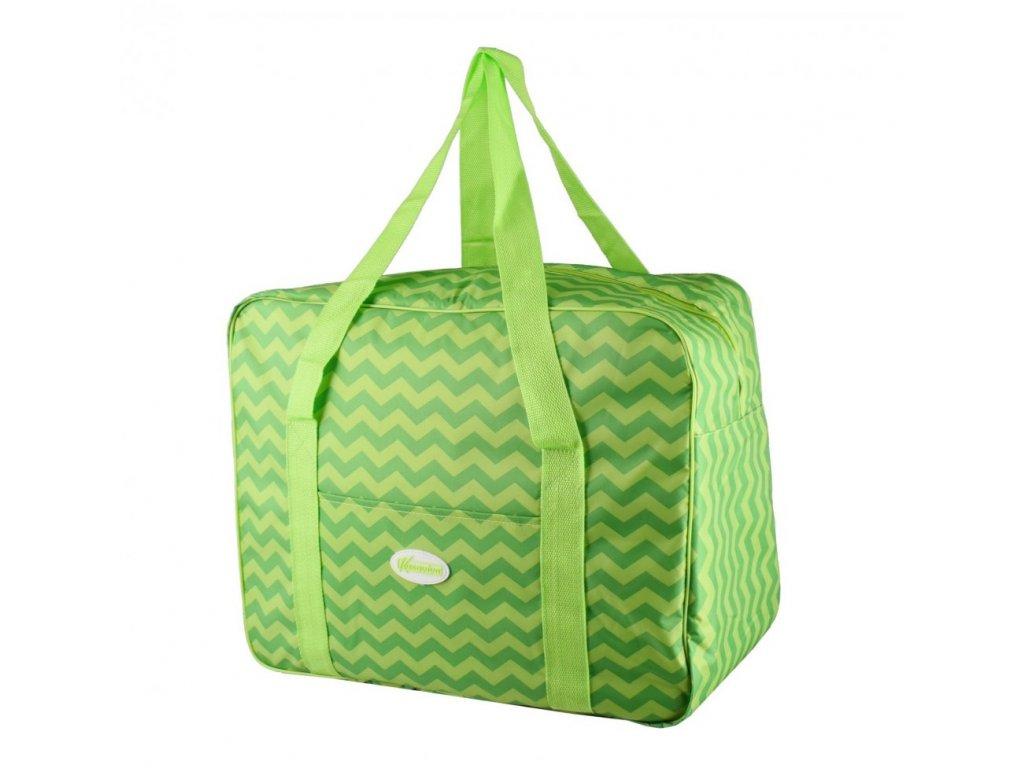 Plážová termotaška - chladící taška Kasaviva 7 litrů zelená