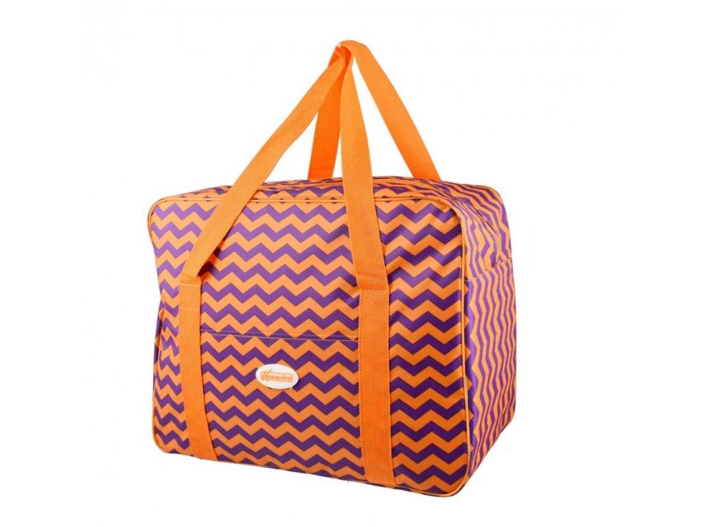 Plážová termotaška - chladící taška Kasaviva 23 litrů oranžová