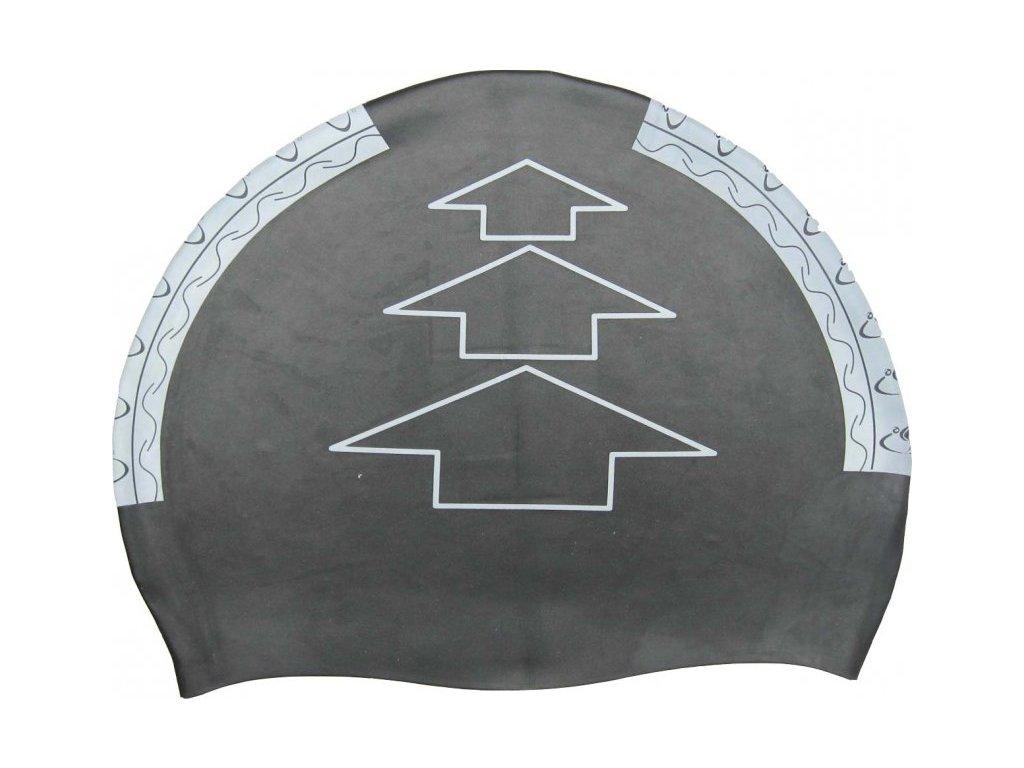 Oboustranná plavecká čepice Dolvor silikon černá