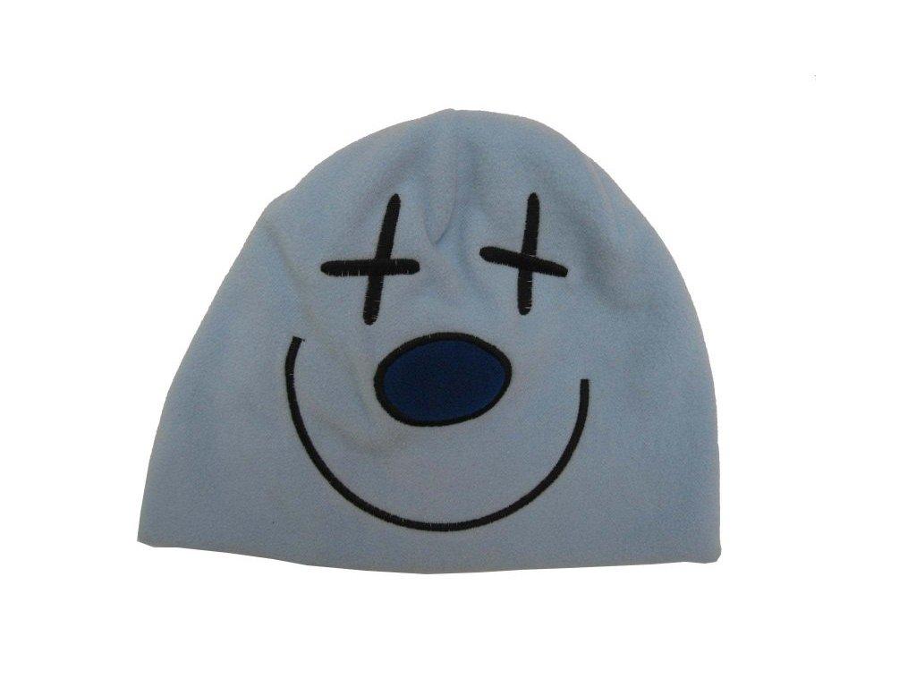 Zimní čepice 8-15 let modrá, křížky