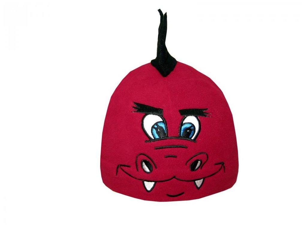 Dětská zimní čepice Mess dráček červený