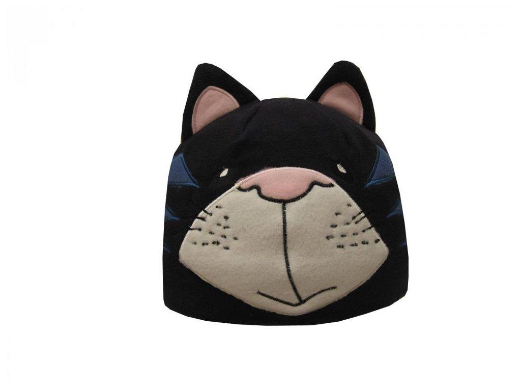 Dětská zimní čepice kočička tmavě modrá