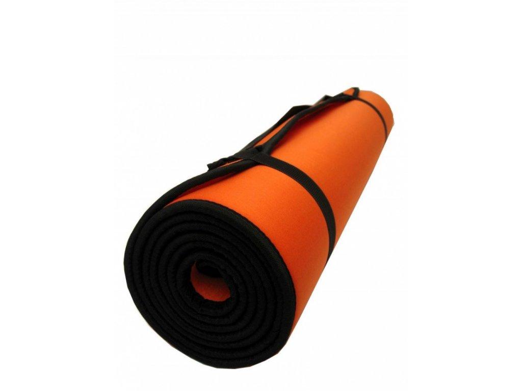 Karimatka na cvičení, textilní povrch, 180x50x0,7 cm