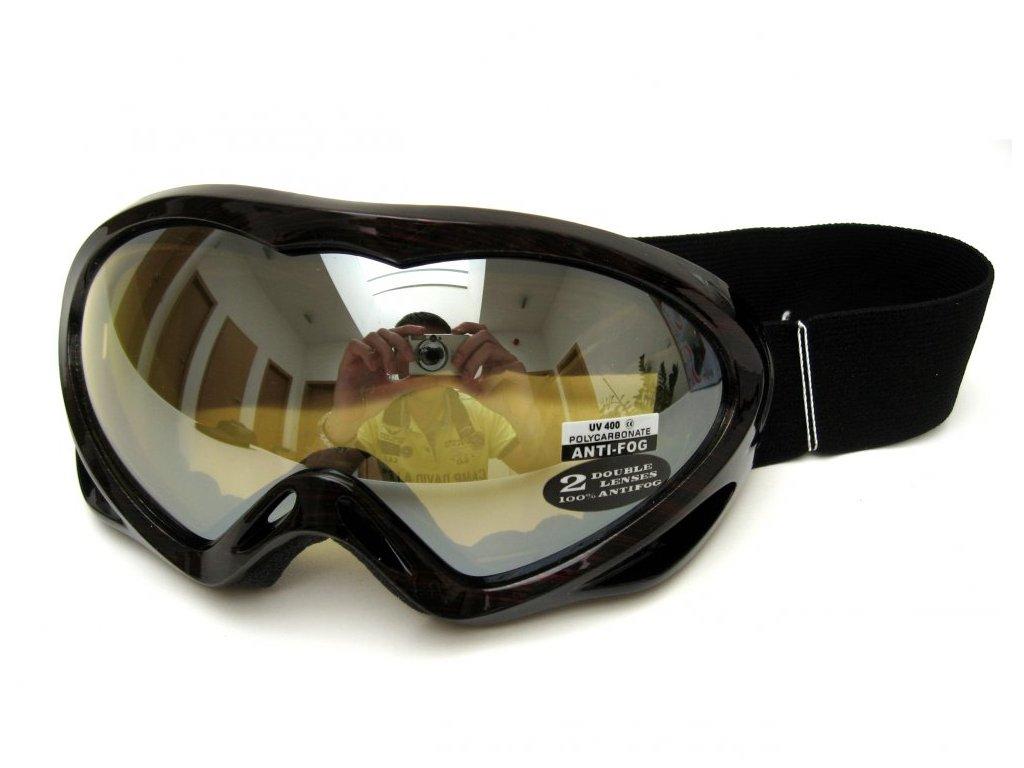 Lyžařské brýle Cortini G1230-7 červené čárky
