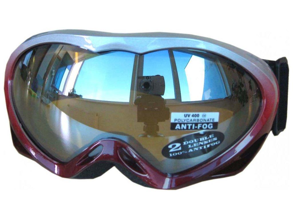 Dětské lyžařské brýle Cortini G1230-3 červené