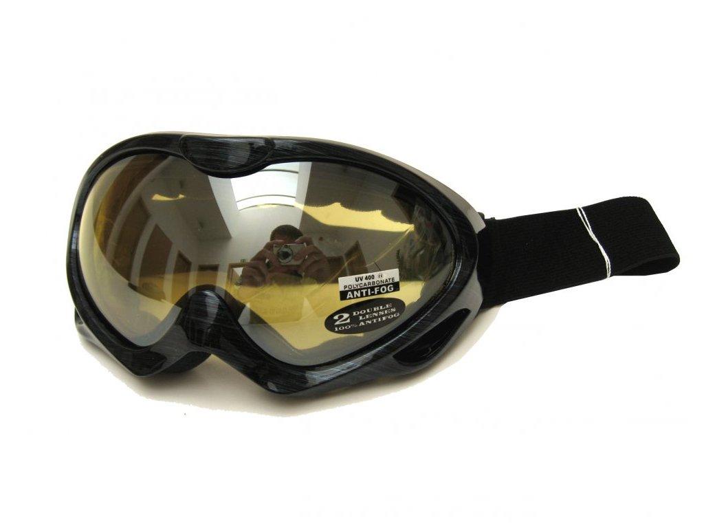 Lyžařské brýle Cortini G1350-4 modré čárky