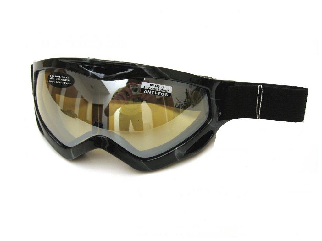 Lyžařské brýle Cortini G1367-7 stříbrné mapy