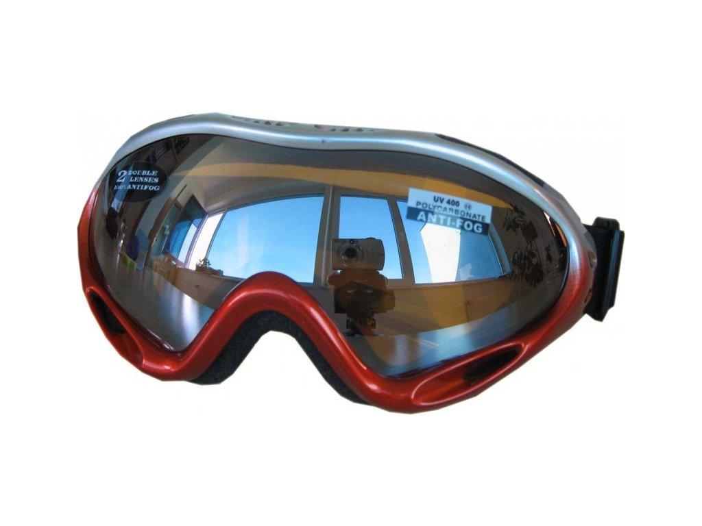 Lyžařské brýle Cortini G1378K-1 junior stříbrno-oranžové