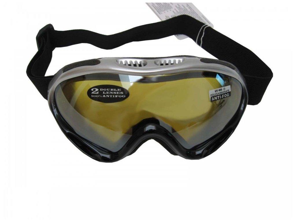 Lyžařské brýle Cortini G1378K-2 junior stříbrno-černé